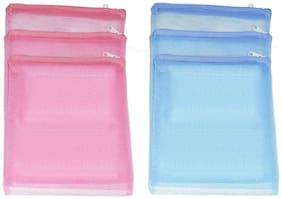 6 Pieces Grocery / Fridge Zipper Storage Bags
