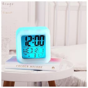 BAZAAR GALI Plastic Digital Table clock ( Set of 1 )