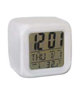 7 Colour Changing LED Digital Alarm Clock (Pack of 1) Assorted Color
