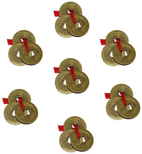 7 Pcs. Feng Shui Lucky Coins For Wealth and Achievement Good luck & Prosperity