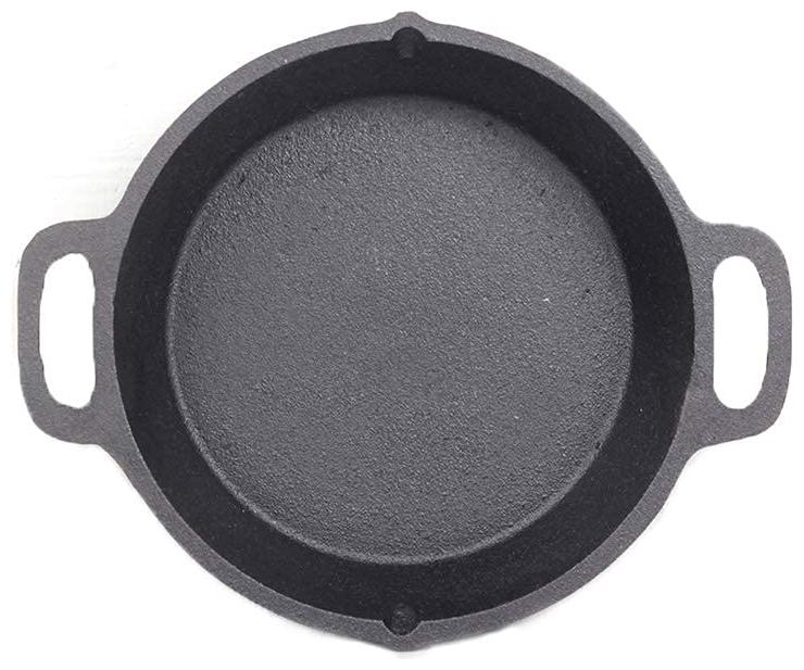 70's KITCHEN Double handle skillet 0.3 ml Without Lid Fry Pan 25.5 cm Diameter   Cast Iron , Set of 1   by 70S Kitchen