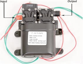 7star 8.0 LPM/12 V DC Double-Core Self Priming Battery Oprated Motor Diaphragm Water Pump, Use Water Supply.