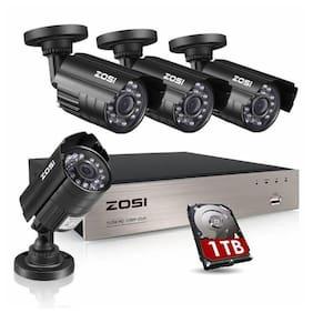 8 Camara De Seguridad Para Casas CCTV 720P Sistema de Video Vigilancia 1TB Disco