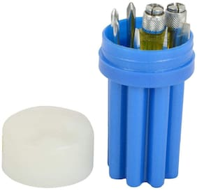 8 Pcs Screw Driver Set with Neon Bulb (Round Box)