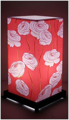 9 Gifts Orange And Pink Flower Table Lamp