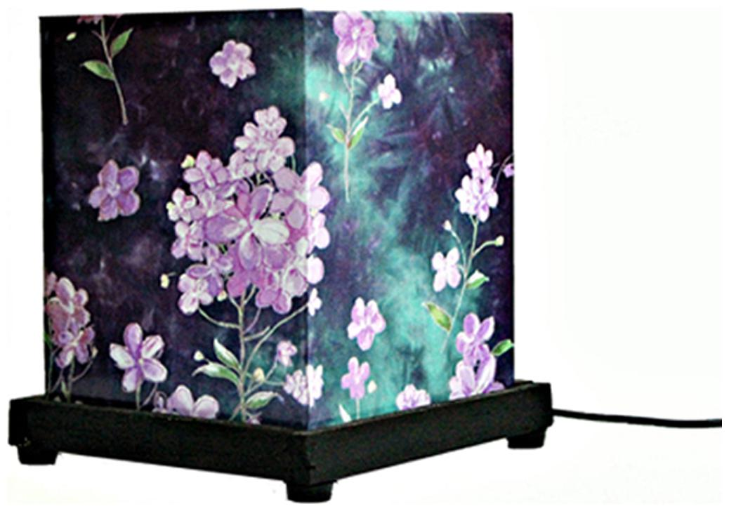 9 Gifts Purple Table Lamp