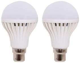 9 watt B22 LED Bulb(White, Pack of 2)