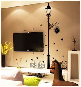 9200 Vintage lamp tower with clock modern Wall Sticker JAAMSO ROYALS
