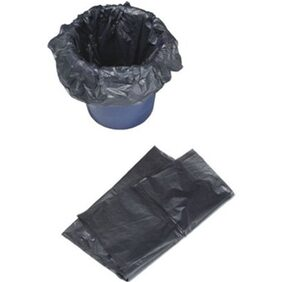 A-1 Garbage/Dustbin Bags (4 Pack, Black)