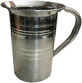 A & H Enterprises Steel Jug for Water Storage & Drinking Water With Steel Outside;For Water Pitcher Geometric Print;Set of 1 ( Steel Jug 1500ml )