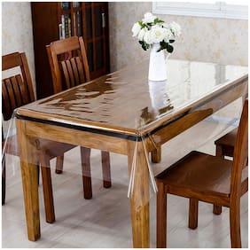 A & H Enterprises 4 Seater Centre Table Cover For Living Room Plastic Plain Design Transparent color ( Set of 1)