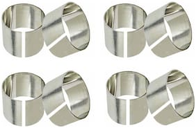 A & H Enterprises Stainless Steel Napkin Rings Napkin holder Set for Dining Table Decoration (Dia-1.5 Inch;Silver) - Set of 8