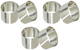 A & H Enterprises Stainless Steel Napkin Rings Napkin holder Set for Dining Table Decoration (Dia-1.5 Inch;Silver) - Set of 6