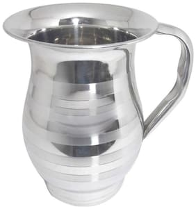 A & H Enterprises Steel Jug Water jug for Dining Table 1.8 Litre for Water Storage & Drinking Water with Steel Outside;for Water Pitcher;Set of 1