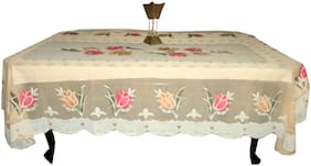 A&H Polyester 6 Seater Floral Dining Table Cover Tablecloth Table Protector,6-8 Seater