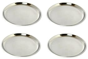 A&H Stainless Steel Heavy Guage With Mirror Finish Dinner Plates