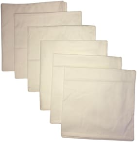 A&H Table Napkin Set of 6 pcs Cotton Plain Table Linens for The Dining Room;Dining Table Use - 18x18 inches (Dinner Napkins) - White color