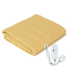 A-One Winter Care SINGLE BED Electric Blanket (Poly Coral Fabric) - CREAM (36x72 inches)