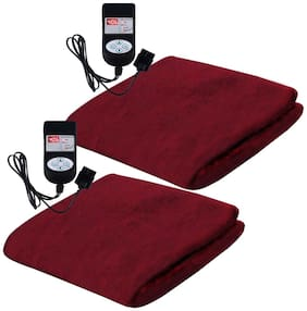 A-One Winter Care KING SIZE Automatic Electric Blanket (Poly Mink Fabric) - COFFEE BROWN (Twin Pack) (78x72 inches)