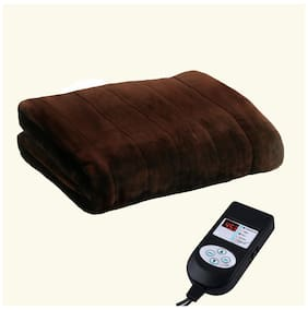 A-One Winter Care KING SIZE Automatic Electric Blanket (Poly Mink Fabric) - COFFEE BROWN (78x72 inches)