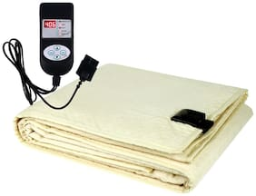 A-One Winter Care QUEEN SIZE Automatic Electric Blanket (Poly Flannel Fabric)   BEIGE (60x72 inches)