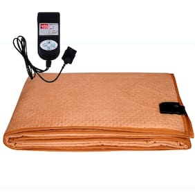 A-One Winter Care QUEEN SIZE Automatic Electric Blanket (Poly Flannel Fabric)   ORANGE (60x72 inches)