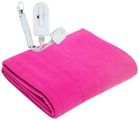 A-One Winter Care SINGLE BED Electric Blanket (Poly Coral Fabric) - MAGENTA (36x72 inches)