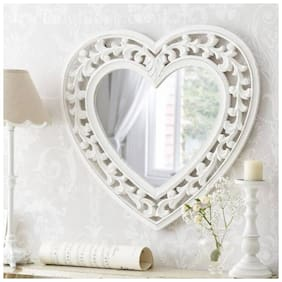 A.R. HANDICRAFT Wooden Mirror - Set of 1