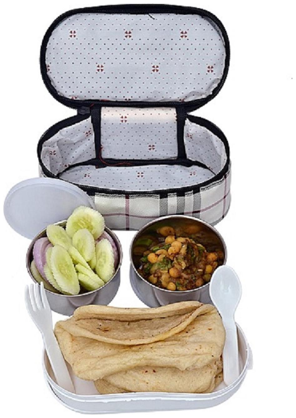 AA TOPWARE 3 Containers Stainless steel Lunch Box   Assorted