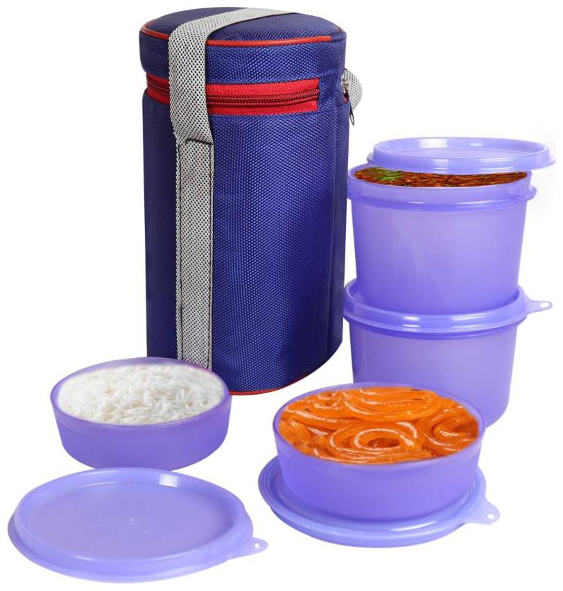 AA TOPWARE 4 Containers Plastic Lunch Box   Assorted