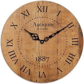 AALAPINO Wood Analog Wall clock ( Set of 1 )