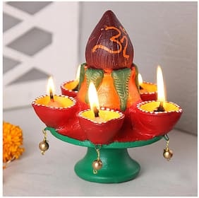 Aapno Rajasthan Terracotta Utility Decoratives ( 1 Diya Set )