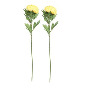 Aapno Rajasthan Plastic Yellow & Green Artificial Flowers