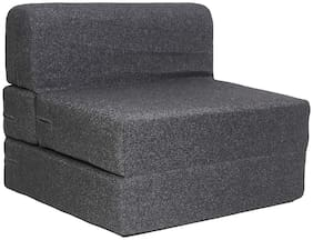 AARAHAN Sofa Cum Bed - Perfect for Guests - Jute Fabric Washable Cover - Dark Grey| 3' X 6' Feet