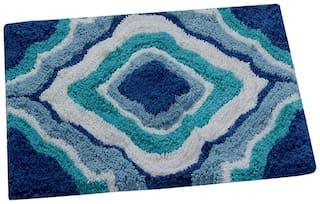 AAZEEM Blue And Green Door Mat