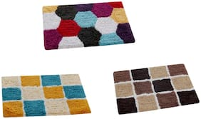 AAZEEM Cotton Door Mat Set of 3