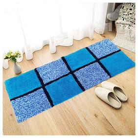 AAZEEM Cotton Bedside Runner with Anti Skid Back, 20 X 48 Inches