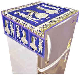Aazeem Design Velvet Fridge Top Cover