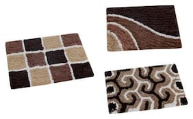 Aazeem Multicolor Cotton Door Mat Set of 3