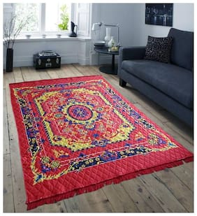 Aazeem Polyester Carpet With Non-Woven Back