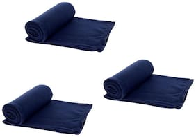 AAZEEM Single Bed Super Lite Blanket - Pack Of 3