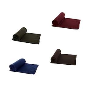 AAZEEM Single Bed Super Lite Blanket - Pack Of 4