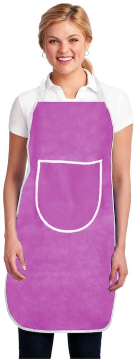 Aazeem Non woven Apron Pink ( Pack of 1 )
