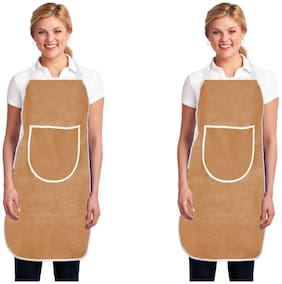 Aazeem Non woven Apron Beige ( Pack of 2 )