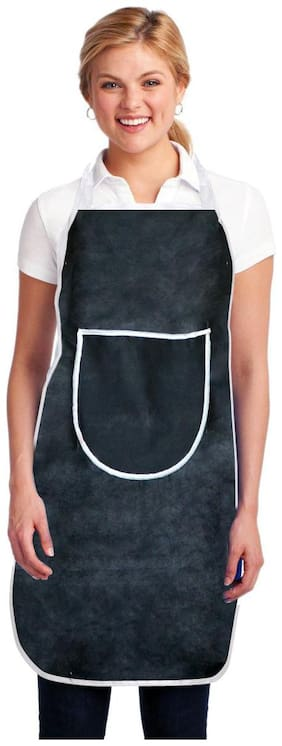 Aazeem Non woven Apron Black ( Pack of 1 )