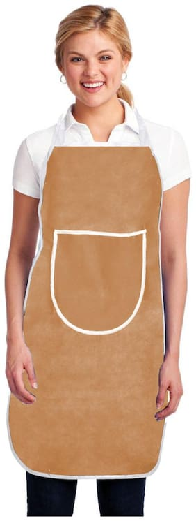 Aazeem Non woven Apron Beige ( Pack of 1 )