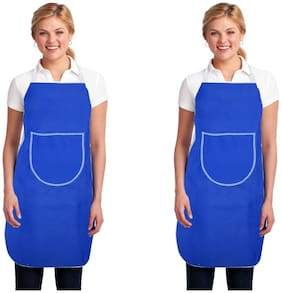Aazeem Non woven Apron Blue ( Pack of 2 )