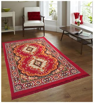 Aazeem Traditional Polyester Carpet (7x5 ft) - Pack Of 1