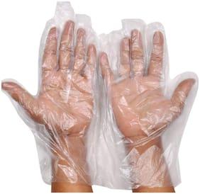 AB WARE 100 pcs Disposable Transparent Clear Plastic Gloves