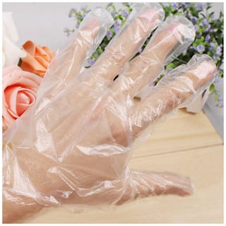 ab ware DISPOSABLE HAND SAFETY TRANSPARENT GLOVES - 100 pcs